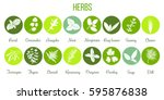big icon set of popular... | Shutterstock .eps vector #595876838