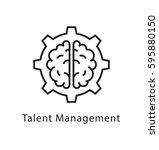 talent management vector line...   Shutterstock .eps vector #595880150