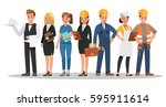 career characters design.... | Shutterstock .eps vector #595911614