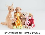 Stock photo the teddy bear and the gang take a photo in good memory 595919219