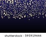 gold star vector. shine... | Shutterstock .eps vector #595919444