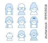 users icon line illustration ...