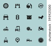 set of 16 editable traffic... | Shutterstock .eps vector #595925300