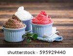 frozen yogurt | Shutterstock . vector #595929440