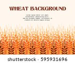 wheat ears background.... | Shutterstock .eps vector #595931696