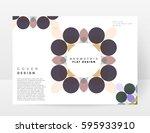 memphis geometric background... | Shutterstock .eps vector #595933910