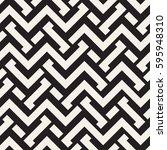 interlacing lines maze lattice. ... | Shutterstock .eps vector #595948310