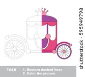 the pink prinsess chariot with...   Shutterstock .eps vector #595949798