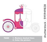 the pink prinsess chariot with...   Shutterstock .eps vector #595949828