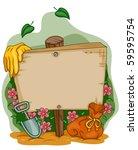 garden signpost   vector | Shutterstock .eps vector #59595754