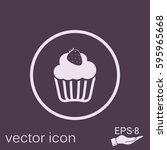 birthday cake icon. symbol of... | Shutterstock .eps vector #595965668