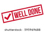 well done rubber stamp | Shutterstock . vector #595969688
