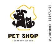 vector logo design template for ... | Shutterstock .eps vector #595971494