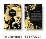 a leaflet template with a... | Shutterstock . vector #595973324