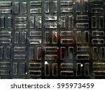 metal sheet .black | Shutterstock . vector #595973459