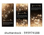 set of vertical banners with... | Shutterstock . vector #595974188