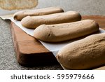 ladyfinger or savayer cookies   ... | Shutterstock . vector #595979666
