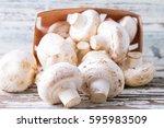 Natural  Organic Mushrooms On A ...