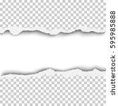 vector snatched horizontal lane ... | Shutterstock .eps vector #595985888