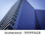 blue building | Shutterstock . vector #595993628