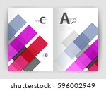 set of front and back a4 size... | Shutterstock .eps vector #596002949