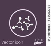 atoms and molecules of vector... | Shutterstock .eps vector #596003789