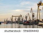 szczecin  poland january 2017... | Shutterstock . vector #596004443
