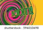 boom comic sound effect in pop