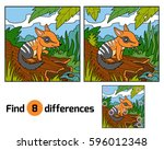 find differences education game ... | Shutterstock .eps vector #596012348