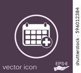 medical calendar   Shutterstock .eps vector #596012384