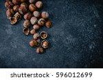 hazelnuts | Shutterstock . vector #596012699