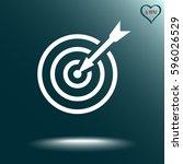 darts target sign icon  vector... | Shutterstock .eps vector #596026529