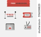 free admission free entrance... | Shutterstock .eps vector #596038820