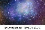deep space. high definition... | Shutterstock . vector #596041178