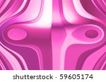 abstract curved colored object | Shutterstock . vector #59605174