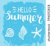 conceptual hand drawn phrase... | Shutterstock .eps vector #596052818