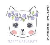 Cute Cat  Portrait Little Kitt...