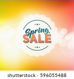 abstract colorful spring green... | Shutterstock . vector #596055488