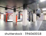 interior of a boxing hall | Shutterstock . vector #596060018