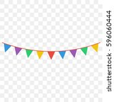 celebrate flags | Shutterstock .eps vector #596060444