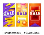 modern art website sale banner... | Shutterstock .eps vector #596060858