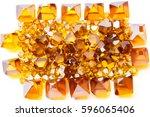 scattered yellow monocrystal...   Shutterstock . vector #596065406