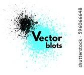 vector blots  blotches with... | Shutterstock .eps vector #596066648