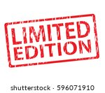 limited edition vector stamp... | Shutterstock .eps vector #596071910