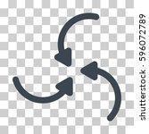 vortex arrows icon. vector...   Shutterstock .eps vector #596072789