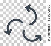 cyclone arrows icon. vector...   Shutterstock .eps vector #596072930