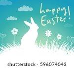 happy easter  | Shutterstock .eps vector #596074043