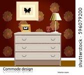 commode design. illustration of ... | Shutterstock .eps vector #596079200