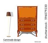 commode design. illustration of ... | Shutterstock .eps vector #596079230