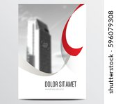 minimal brochure or annual... | Shutterstock .eps vector #596079308